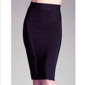 Bebe Black Midi Bandage Skirt